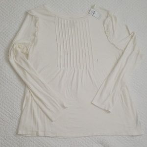 Aerie Real Soft long sleeve  cream color knit top